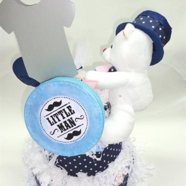 Εικόνα 3 για Μωρότουρτα για αγόρι - DiapierCake Little Man
