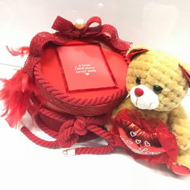 Εικόνα 3 για Romantic Red Gift Box Capitone Bear