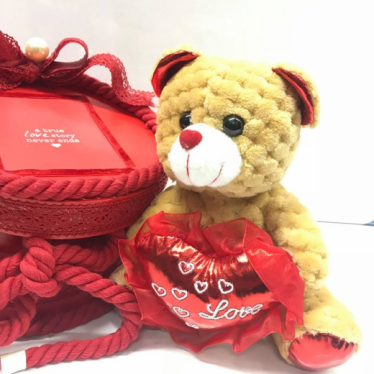 Εικόνα 4 για Romantic Red Gift Box Capitone Bear