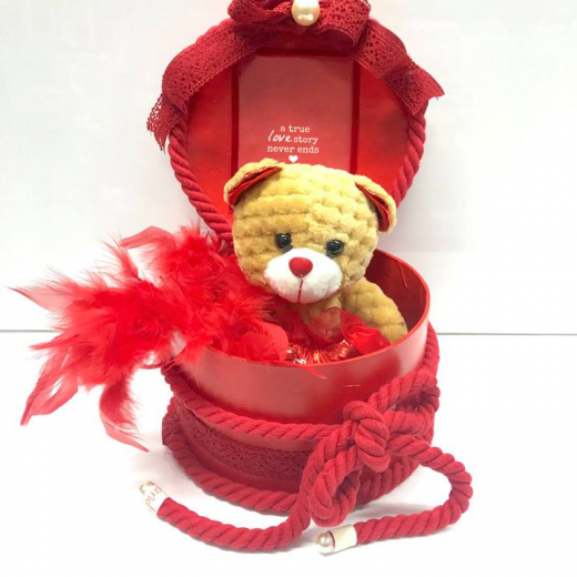Εικόνα για Romantic Red Gift Box Capitone Bear