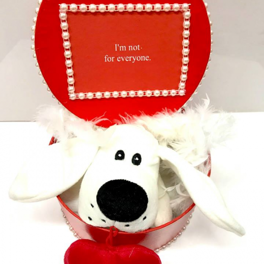Εικόνα για Romantic Red Gift Box - Puppy Love