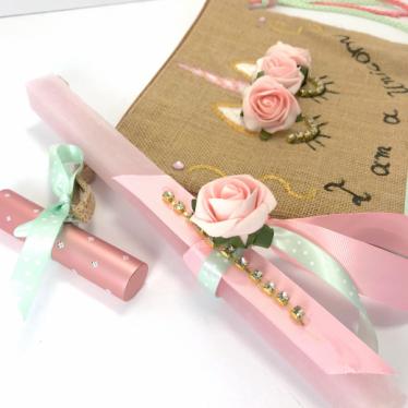 Εικόνα 2 για Luxury Edition Λαμπάδα UNICORN Roses
