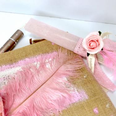 Εικόνα 2 για Luxury Edition Λαμπάδα Rose & Feather