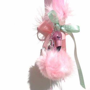 Εικόνα 2 για Λαμπάδα ροζ μπρελόκ Ροζ φλαμίνγκο