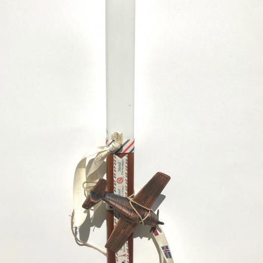 Εικόνα για Λαμπάδα καφέ Αεροπλανάκι μινιατουρα - Ξύστρα