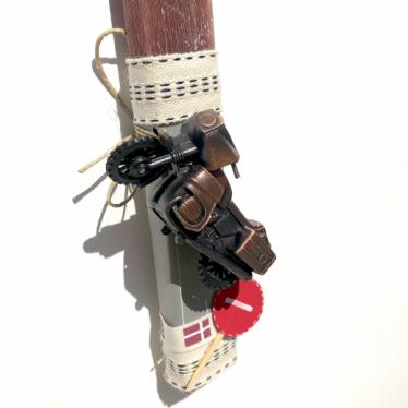 Εικόνα 2 για Λαμπάδα καφέ πλακέ Μινιατούρα Μηχανή - ξύστρα