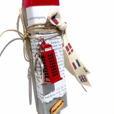 Εικόνα 2 για Λαμπάδα πλακέ γκρι Μινιατούρα Red PhoneHall μπρελοκ