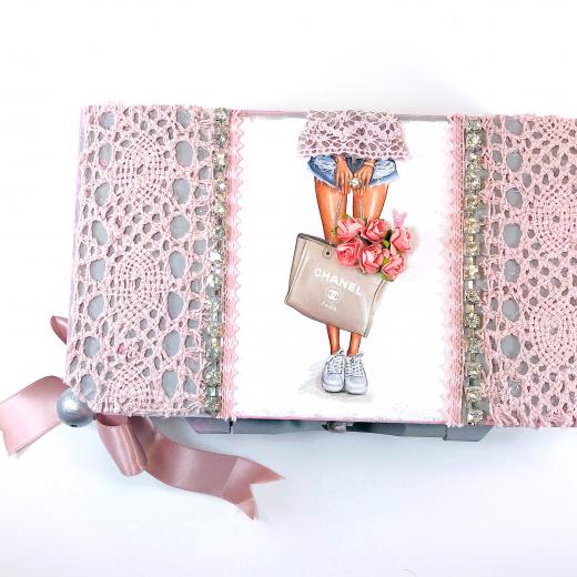 Εικόνα για Luxury Edition Λαπμάδα CHANEL Pink -Grey