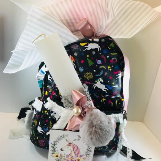 Εικόνα για Σετ Λαμπάδα Unicorn Bag
