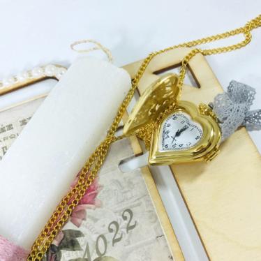 """Εικόνα 2 για Λαμπάδα με ξύλινη βάση"""" Heart Clock"""""""
