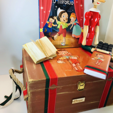 Εικόνα 2 για Σετ Λαμπάδας Ξύλινο κουτί Πινόκιο