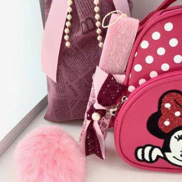 Εικόνα 2 για Σετ Λαμπάδας Minnie Fuchsia Bag
