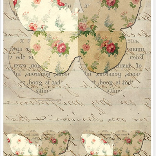 Εικόνα για Χαρτί για Decoupage A3  ριζόχαρτο Μεγάλη Πεταλούδα