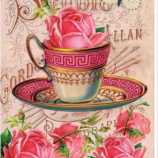 Εικόνα για Χαρτι για Decoupage A3  ριζόχαρτο Rose Cup