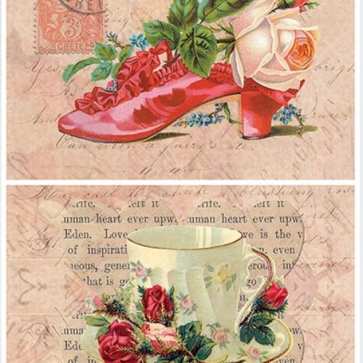 Εικόνα για Χαρτί για Decoupage A3 ριζόχαρτο Vintage Rose