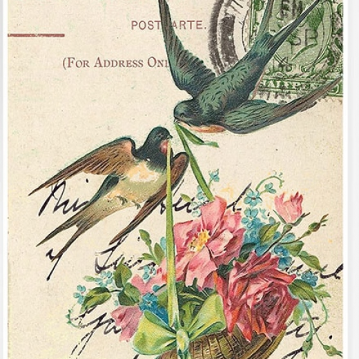 Εικόνα για Χαρτί για Decoupage A3 ριζόχαρτο Περιστέρια