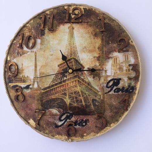 Εικόνα για Ρολόι Τοίχου Paris Vintage