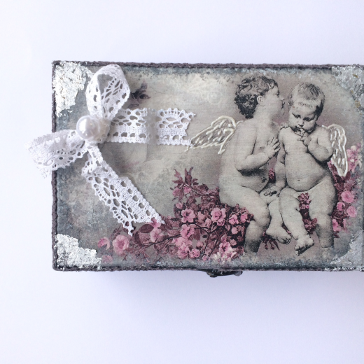 Εικόνα για Ξυλινο κουτί με καθρέφτη Angels