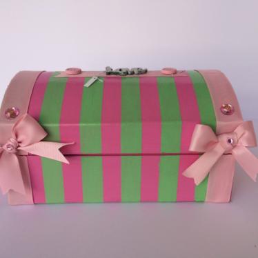 Εικόνα 2 για Χάρτινο Μπαουλάκι Pink Stripes