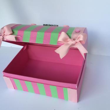 Εικόνα 3 για Χάρτινο Μπαουλάκι Pink Stripes