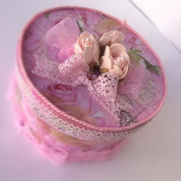 Εικόνα 3 για Χειροποίητο κουτί Pink Roses
