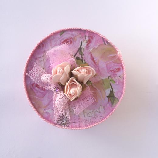 Εικόνα για Χειροποίητο κουτί Pink Roses