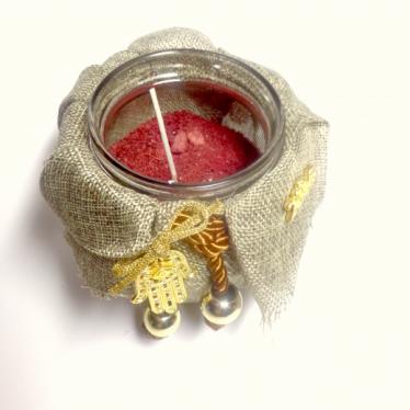 Εικόνα 2 για Γούρι βάζο γυάλινο κερί Φυσικός καμβάς