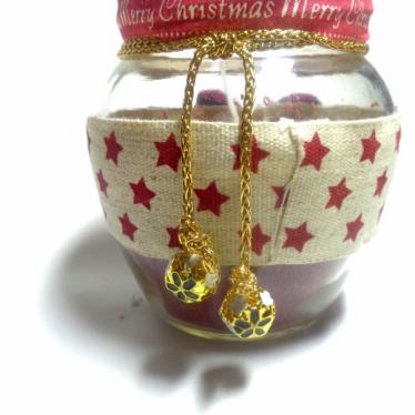 Εικόνα 2 για Γούρι βάζο γυάλινο κερί Christmas Stars