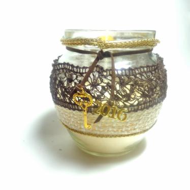 Εικόνα 2 για Γούρι βάζο γυάλινο κερί Αγάπη- Πίστη - Ελπίδα - Σοφία