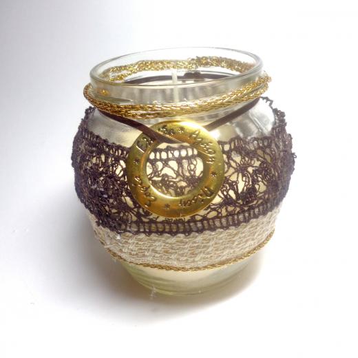 Εικόνα για Γούρι βάζο γυάλινο κερί Αγάπη- Πίστη - Ελπίδα - Σοφία