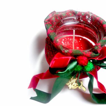 Εικόνα 2 για Γούρι βάζο γυάλινο κερί Christmas pattern