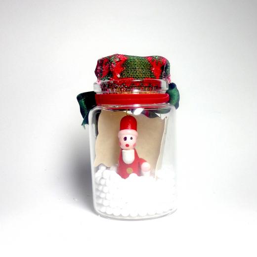 Εικόνα για Γούρι γυάλινο μεσαίο μπουκαλάκι με ευχή, Άγιος Βασίλης