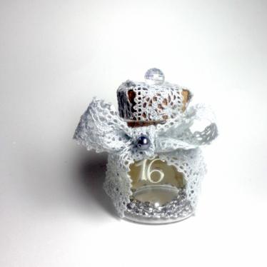 Εικόνα 2 για Γούρι γυάλινο μικρό μπουκαλάκι με ευχή, Ασημί Γιρλάντα