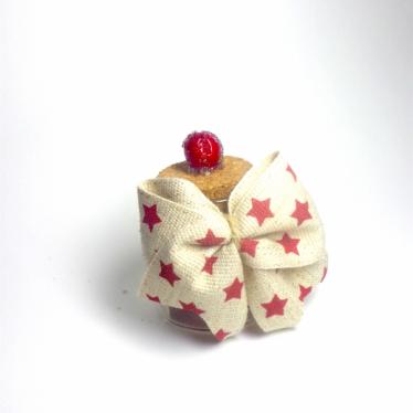 Εικόνα 2 για Γούρι γυάλινο μικρό μπουκαλάκι με ευχή, Stars ribbon