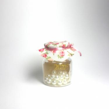 Εικόνα 2 για Γούρι γυάλινο μικρό μπουκαλάκι με ευχή, Floral pattern