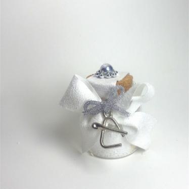 Εικόνα 2 για Γούρι γυάλινο μικρό μπουκαλάκι με ευχή,  Τριγωνάκι Χριστουγέννων