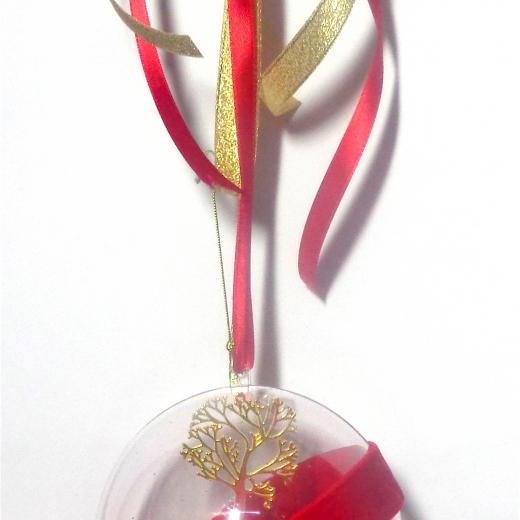 Εικόνα για Γούρι μεγάλη διάφανη μπάλα Χρυσό Δέντρο Τύχης