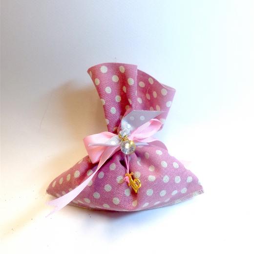 Εικόνα για Γούρι Πουγκί με άρωμα Λεβάντα, Πουά Ροζ