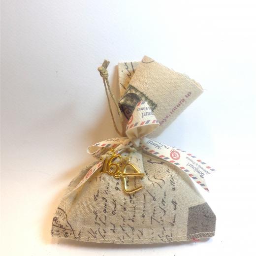 Εικόνα για Γούρι Πουγκί με άρωμα Λεβάντα, Γράμμα