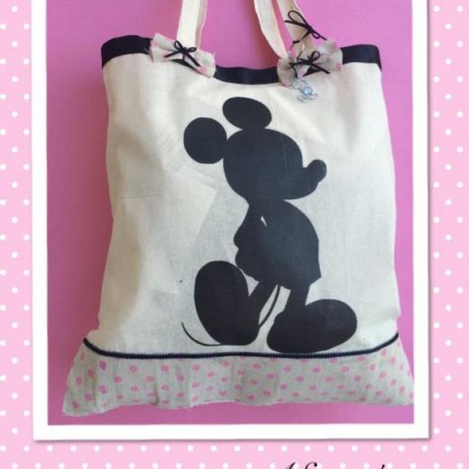 Εικόνα για Τσάντα Πάνινη με τσάμπα - Mickey