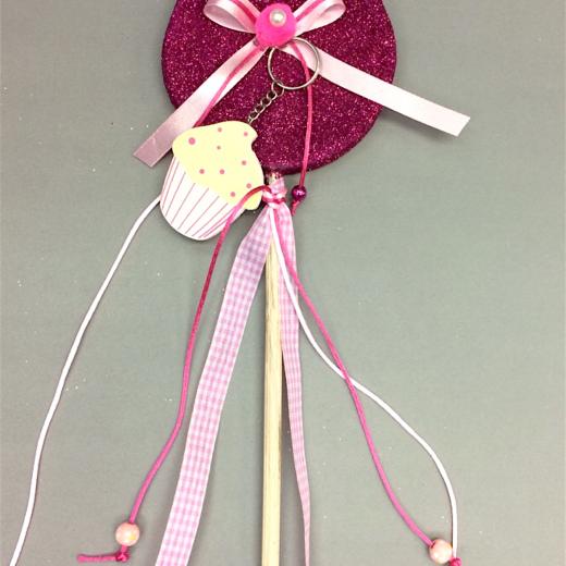 Εικόνα για Λαμπάδα Γλειφιτζούρι Φούξια Cupcake